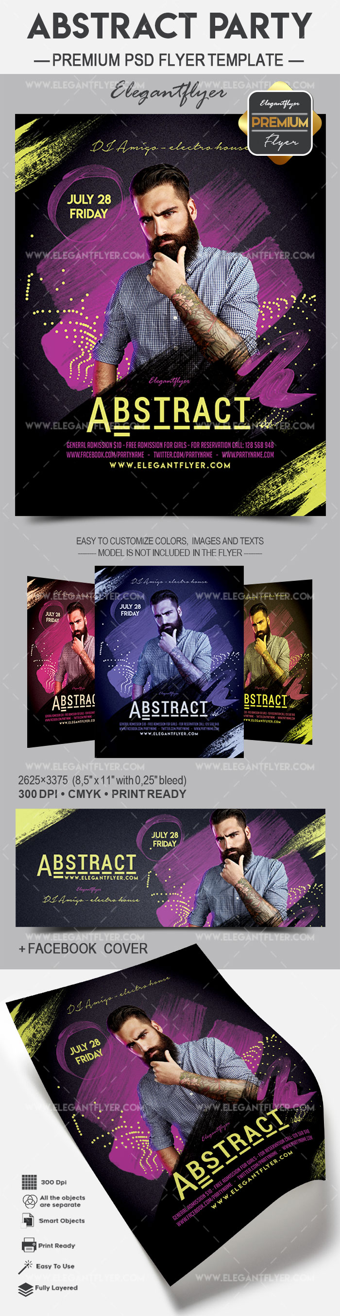 Abstract Party – Flyer PSD Template