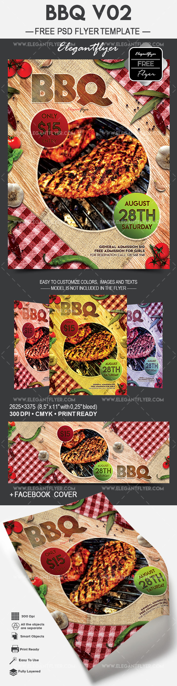 BBQ V02 – Free Flyer PSD Template