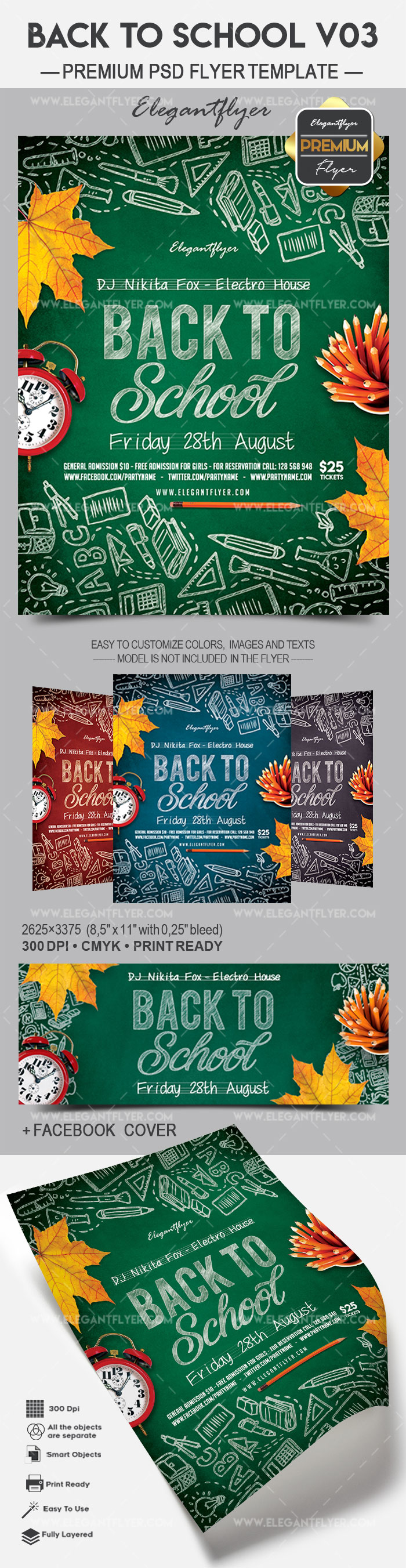 Back To School V03 – Flyer PSD Template