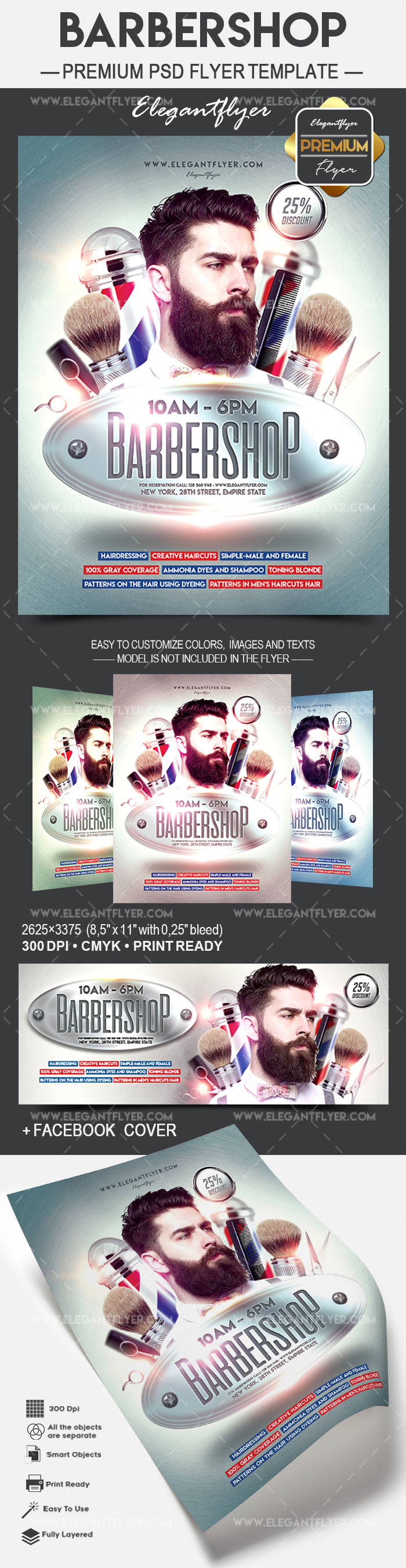 Elite Barbershop Flyer Template