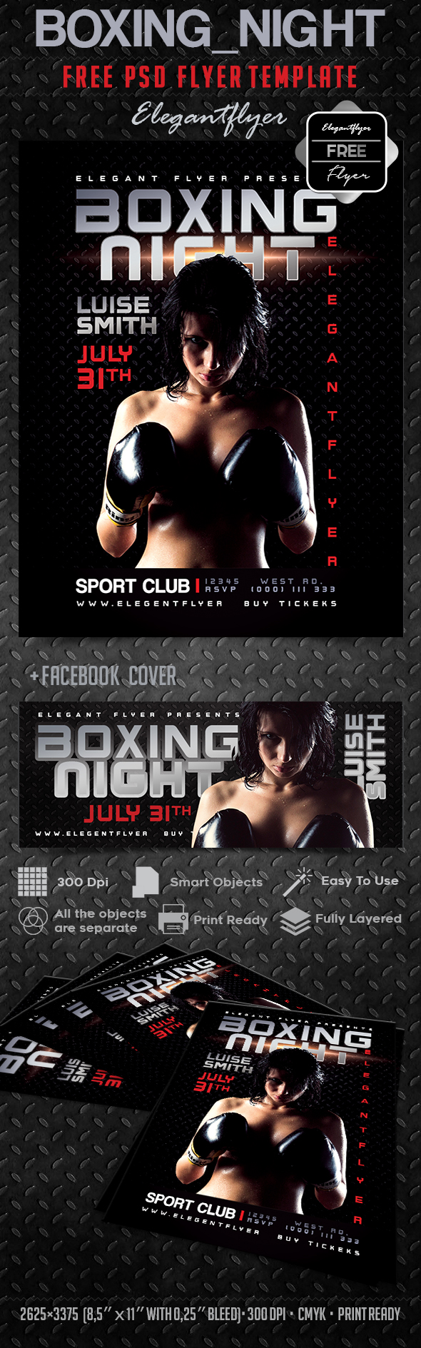 Boxing_night – Free Flyer PSD Template