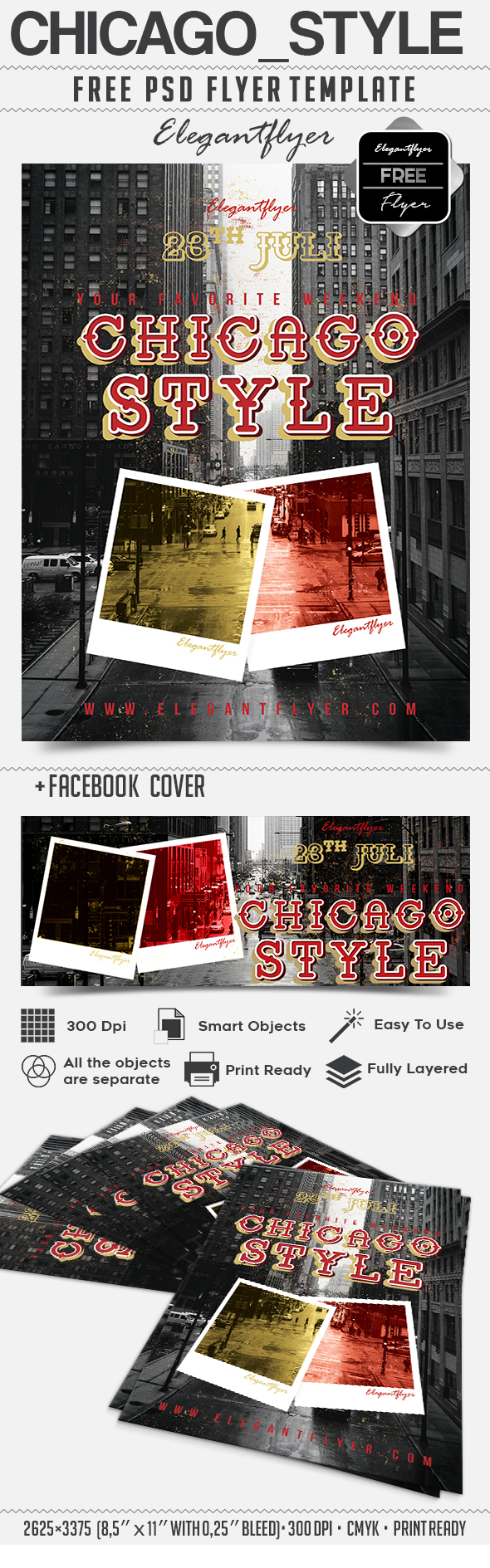 Chicago_Style – Free Flyer PSD Template