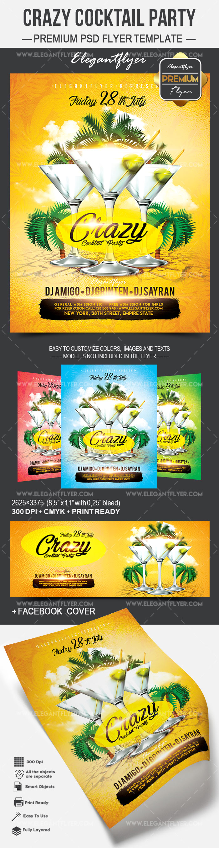 Crazy Cocktail Party – Flyer PSD Template