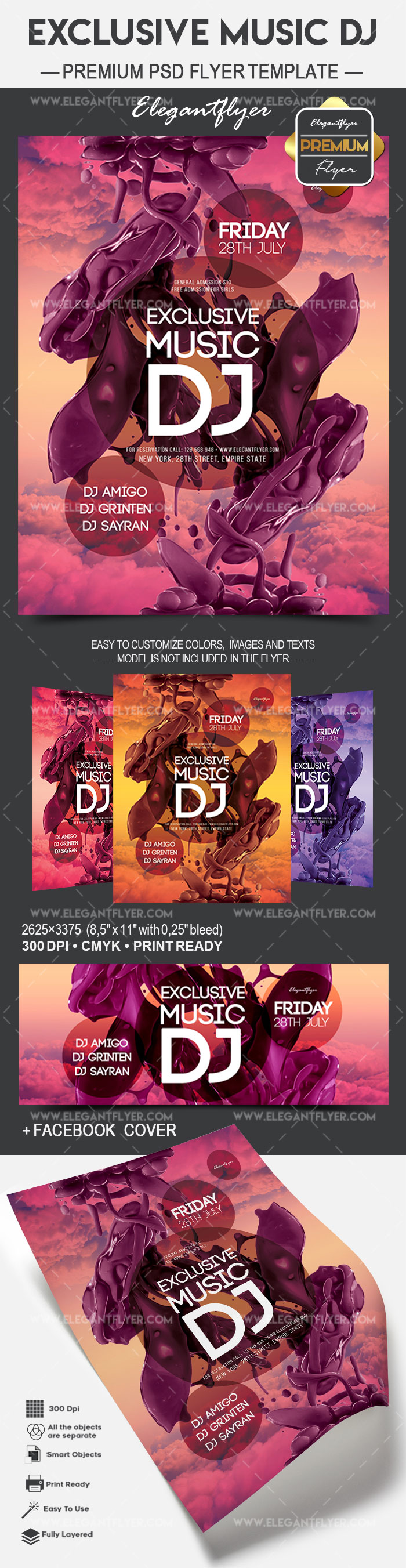 Exclusive Music DJ – Flyer PSD Template