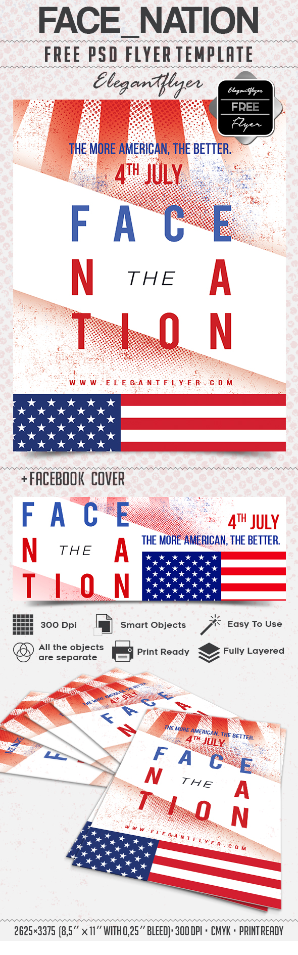 Face nation – Free Flyer PSD Template