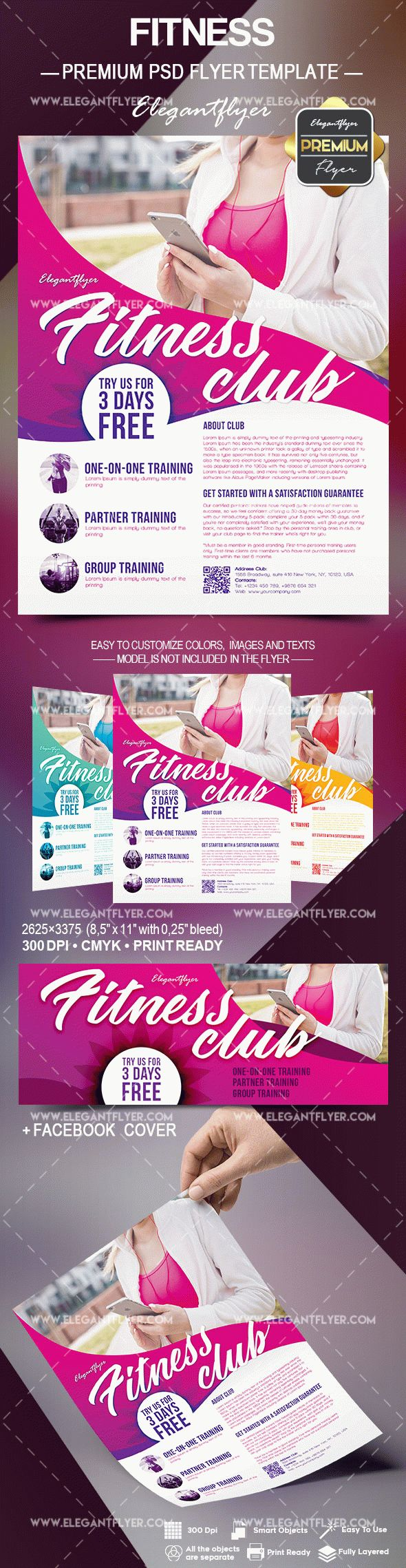 Flyer Template for Fitness Motivation