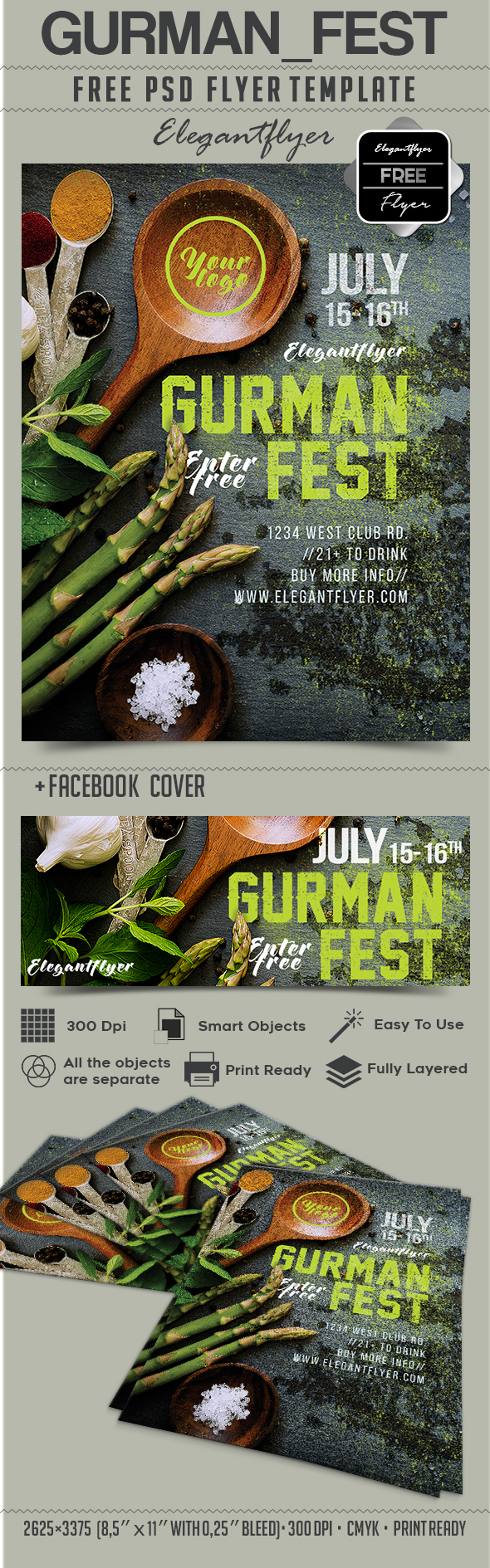 Gurman fest – Free Flyer PSD Template