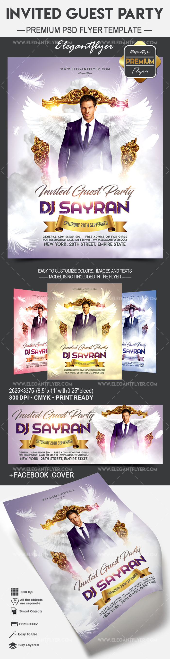 Invited Guest Party – Flyer PSD Template
