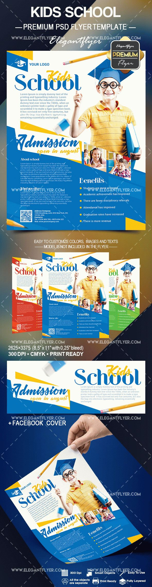 Kids School – Flyer PSD Template