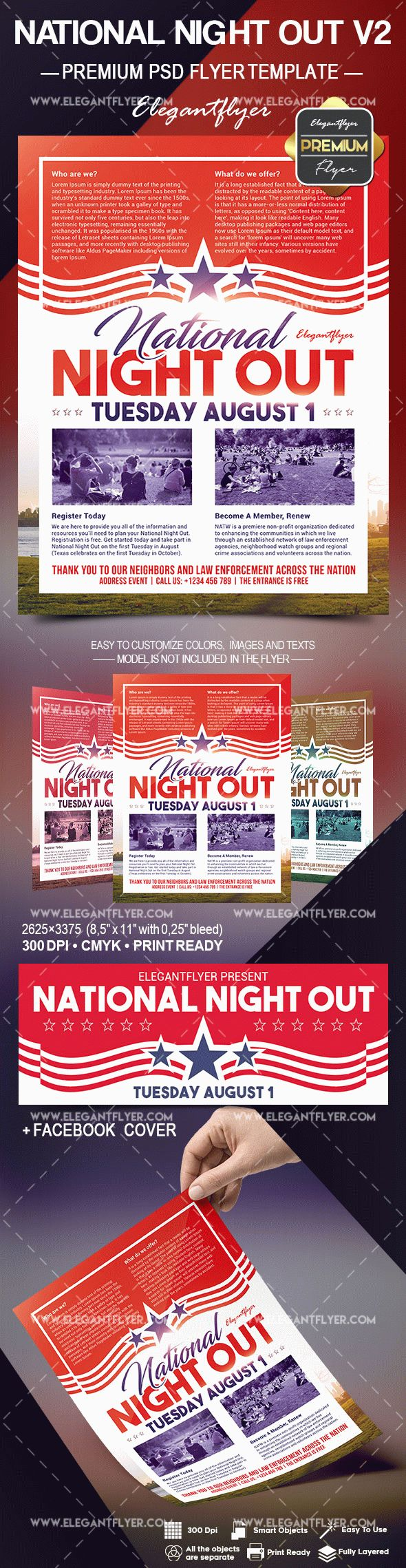 National Night Out V2 Flyer Psd Template By Elegantflyer