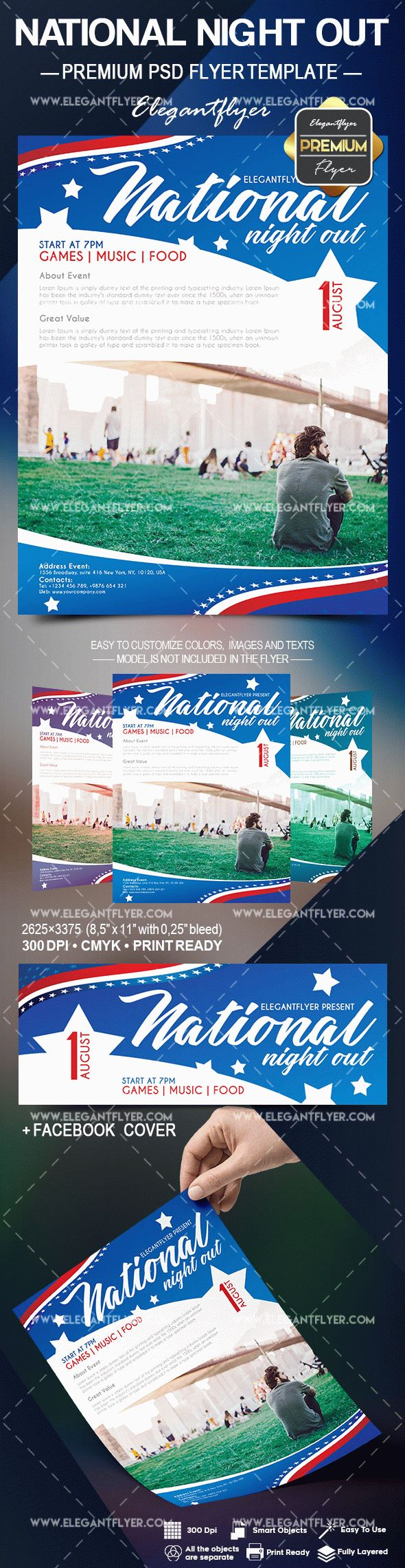 National Night Out Flyer Psd Template By Elegantflyer