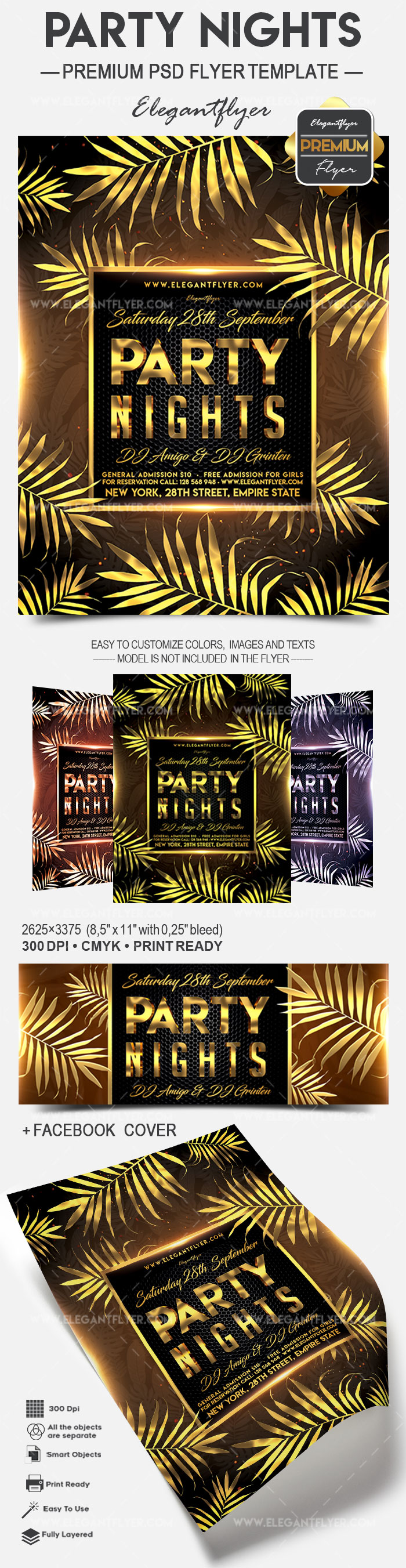 Party Nights – Flyer PSD Template