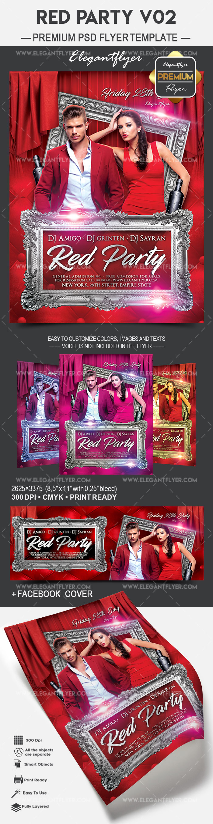 Red Party V02 – Flyer PSD Template