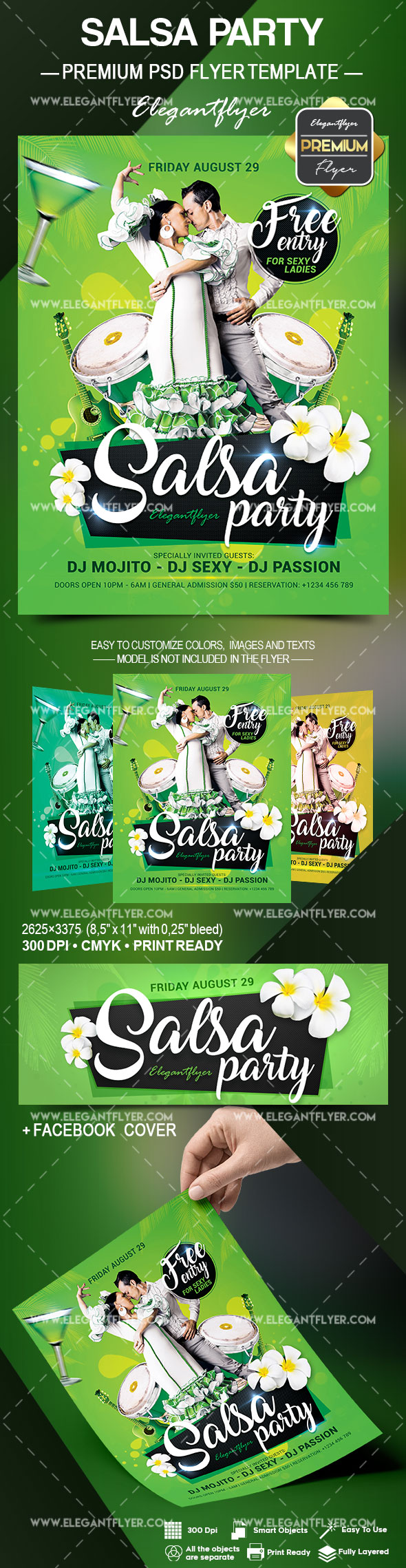 Salsa Party – Flyer PSD Template