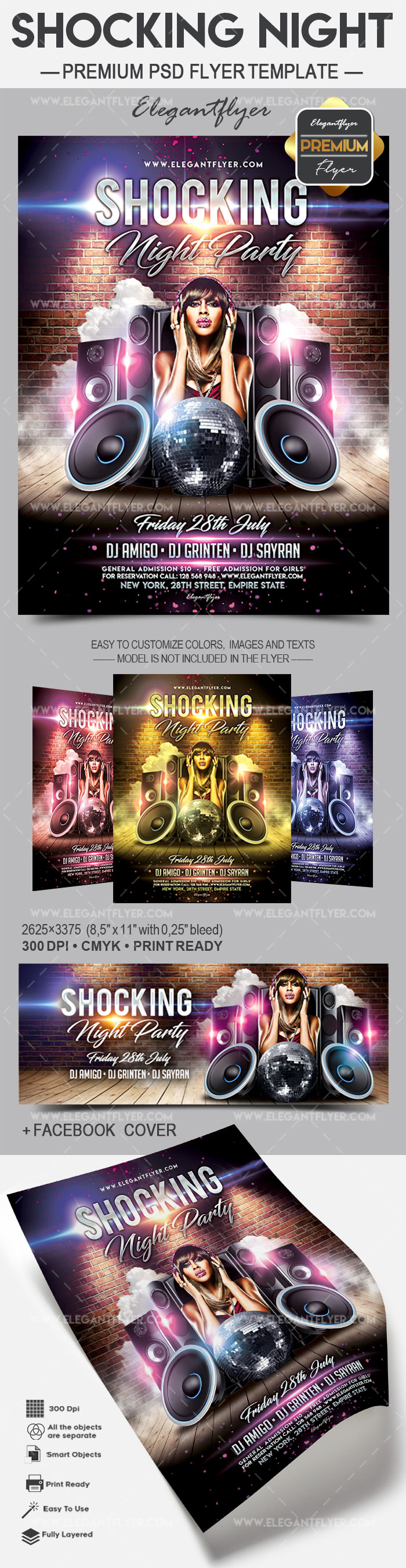 Shocking Night V02 – Flyer PSD Template