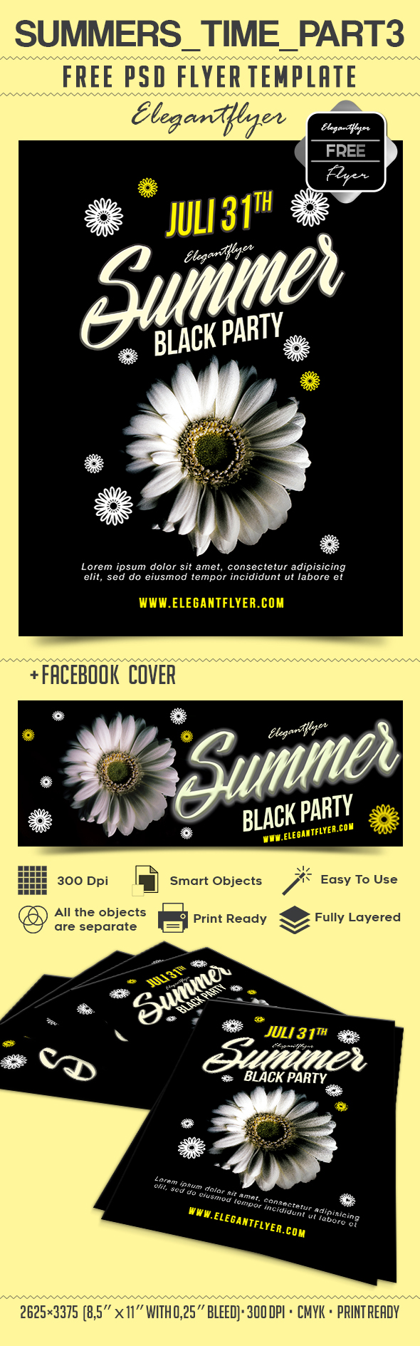 Summers Time _part3 – free psd flyer