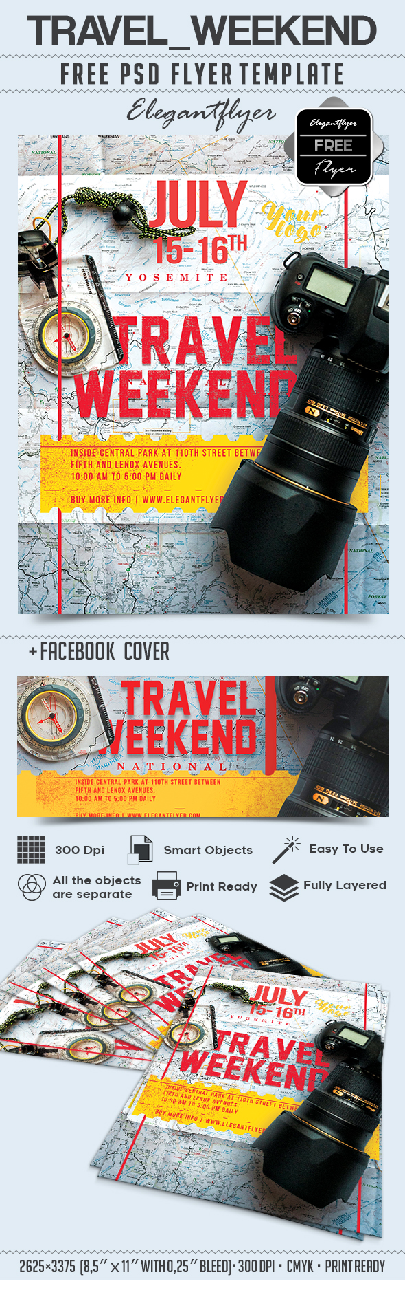 Travel Weekend part 2 – Free Flyer PSD Template