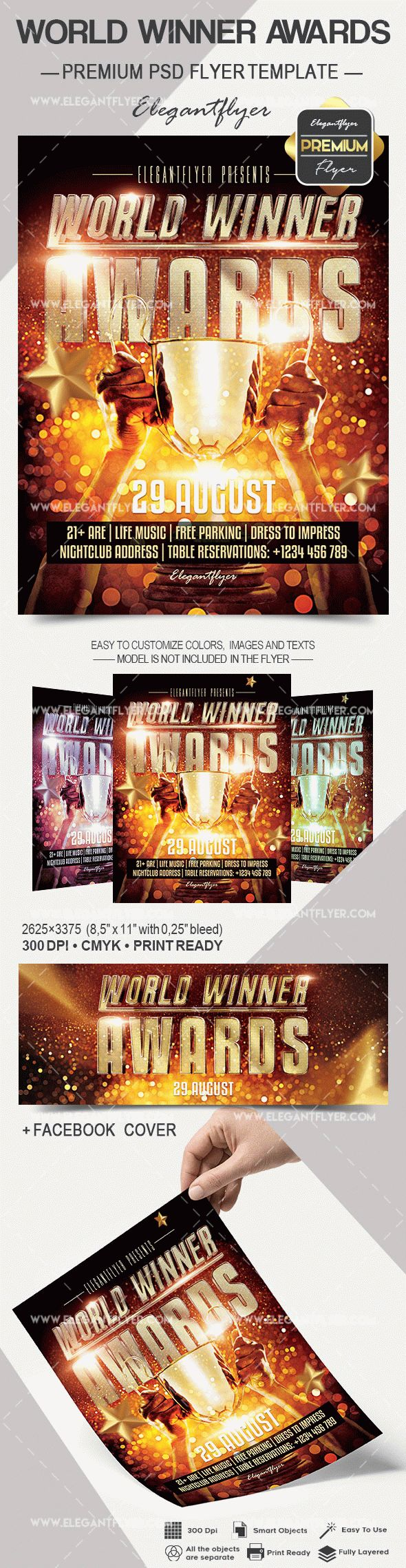 World Winner Awards – Flyer PSD Template