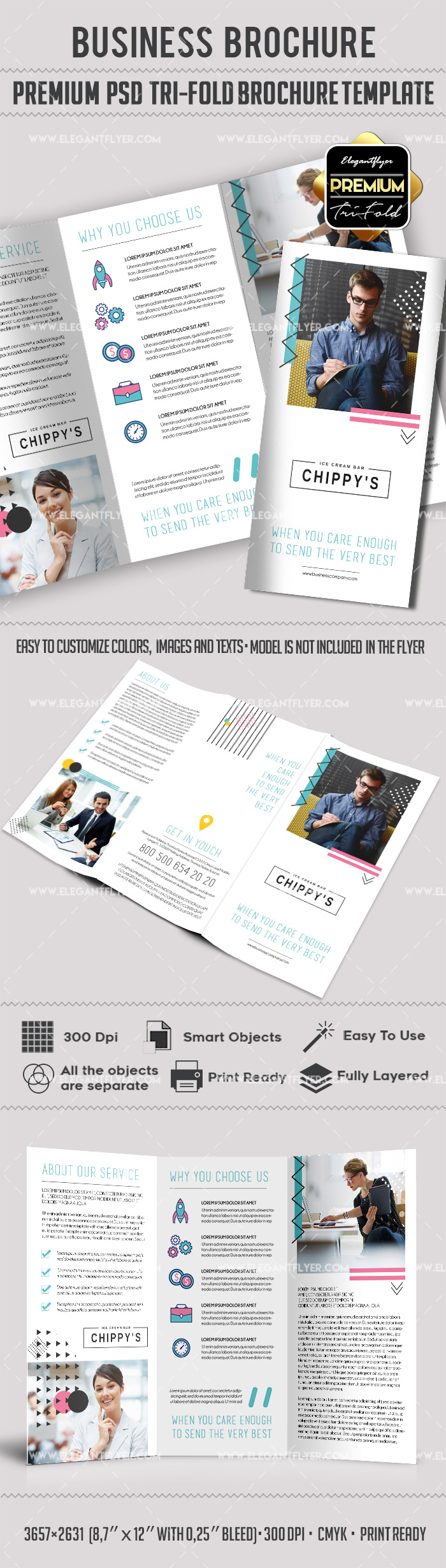 Business – Premium Tri-Fold PSD Brochure Template