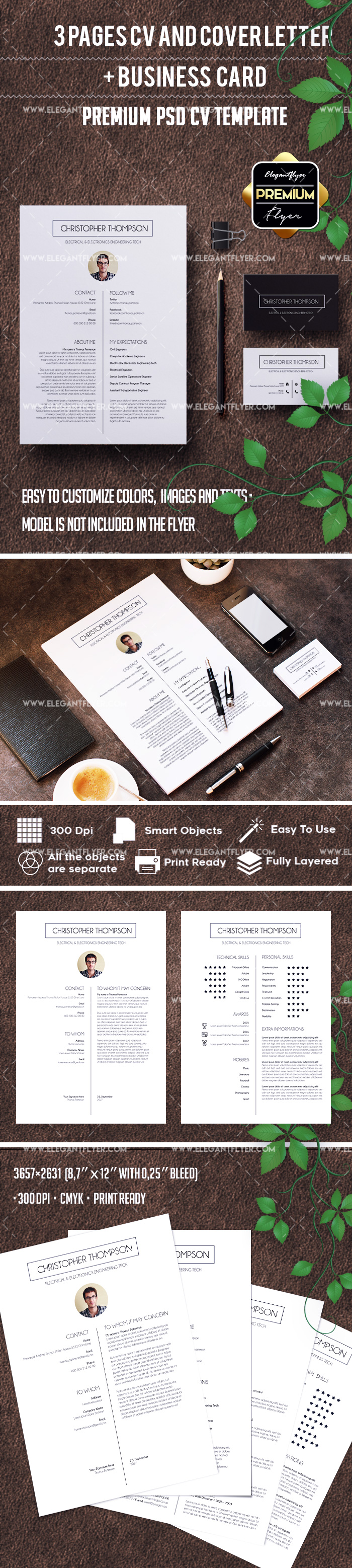 Office Resume Template + CV and Cover Letter