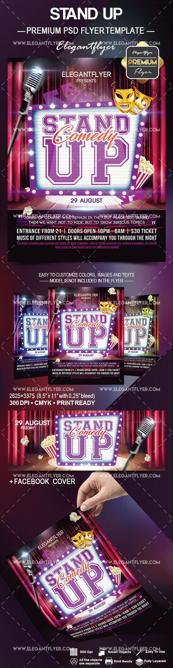 Stand Up Flyer PSD Template