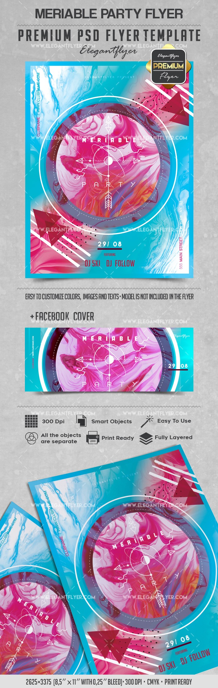 Meriable Party – Flyer PSD Template