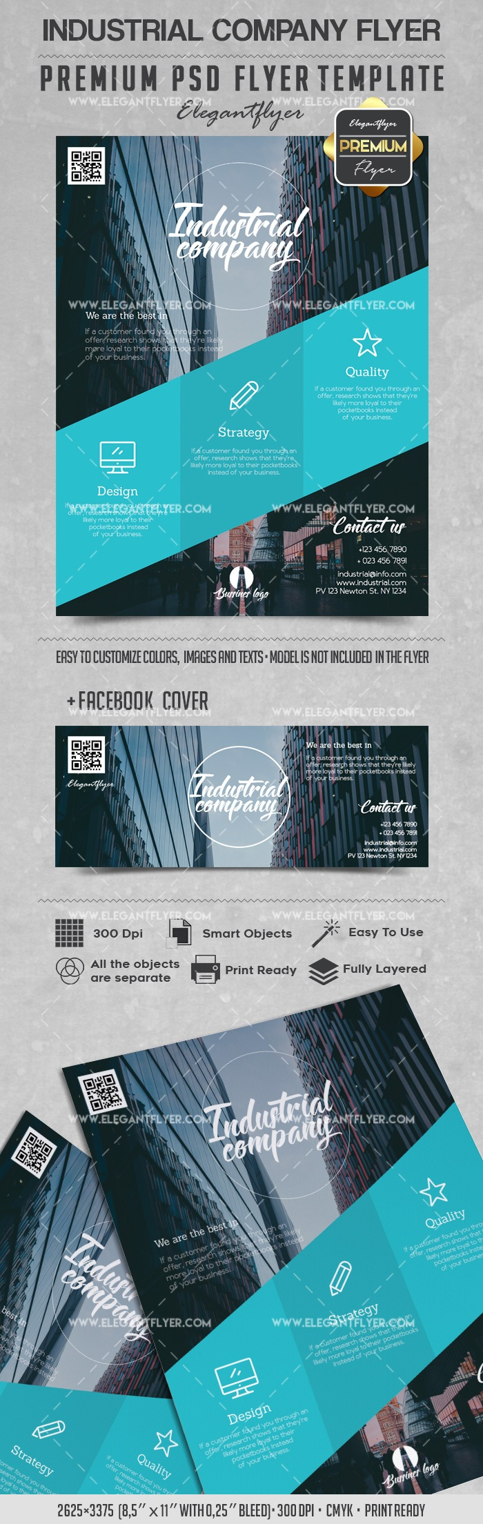 Industrial Company – Flyer PSD Template
