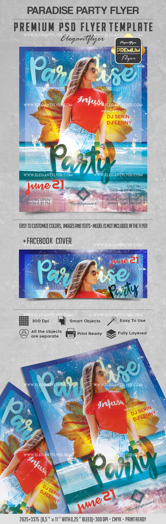 Paradise Party – Flyer PSD Template