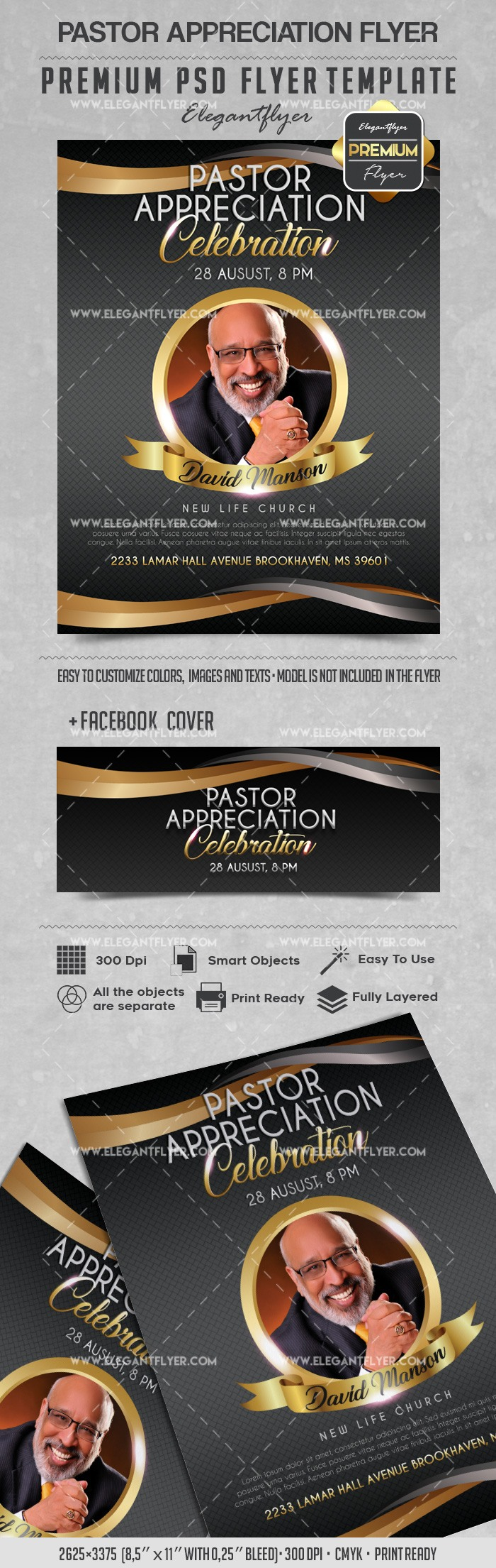 Theme for Pastor Appreciation Celebration Flyer