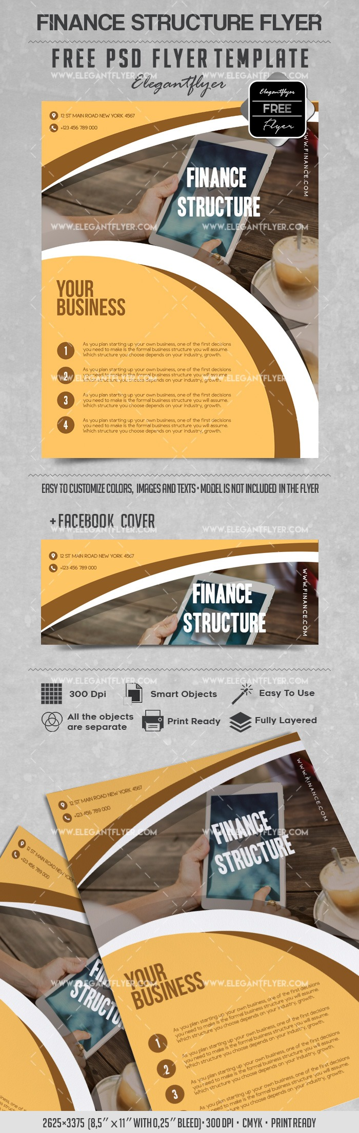 Finance Structure – free flyer templates psd