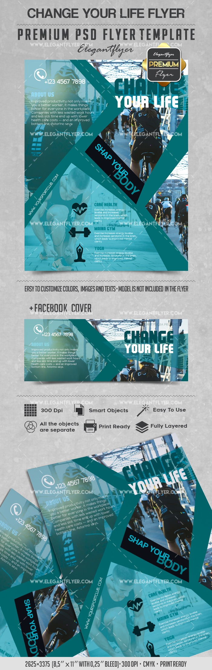 Change your Life – Flyer PSD Template