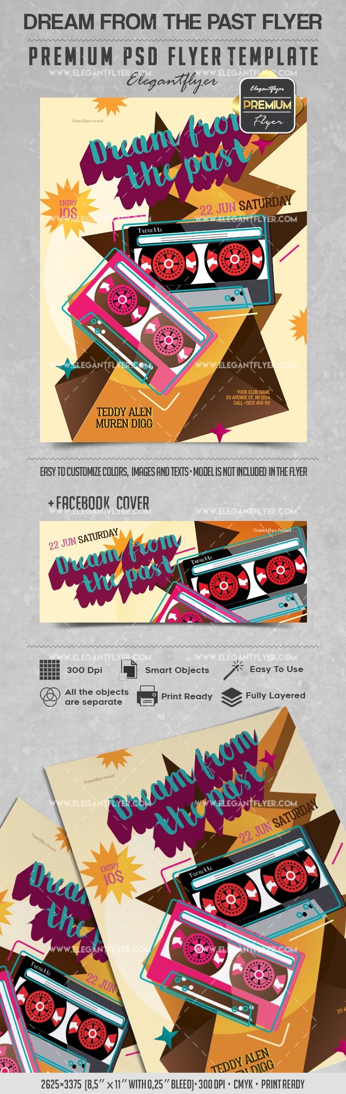 Dream from the Past – Flyer PSD Template