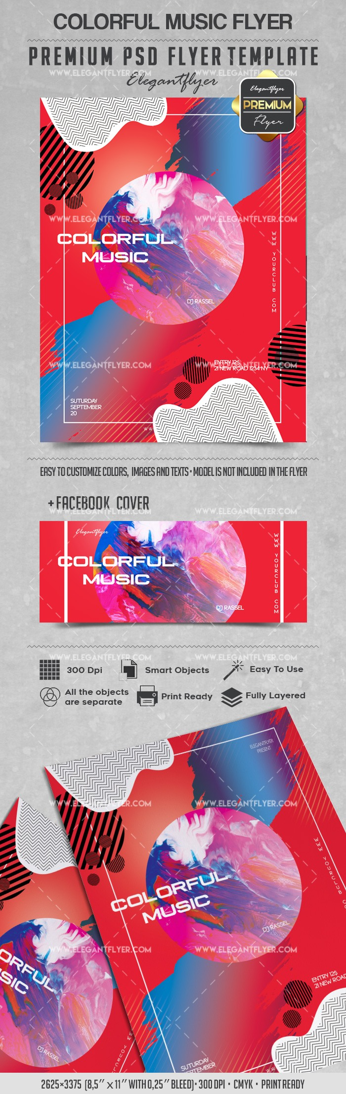 Colorful Music – Flyer PSD Template