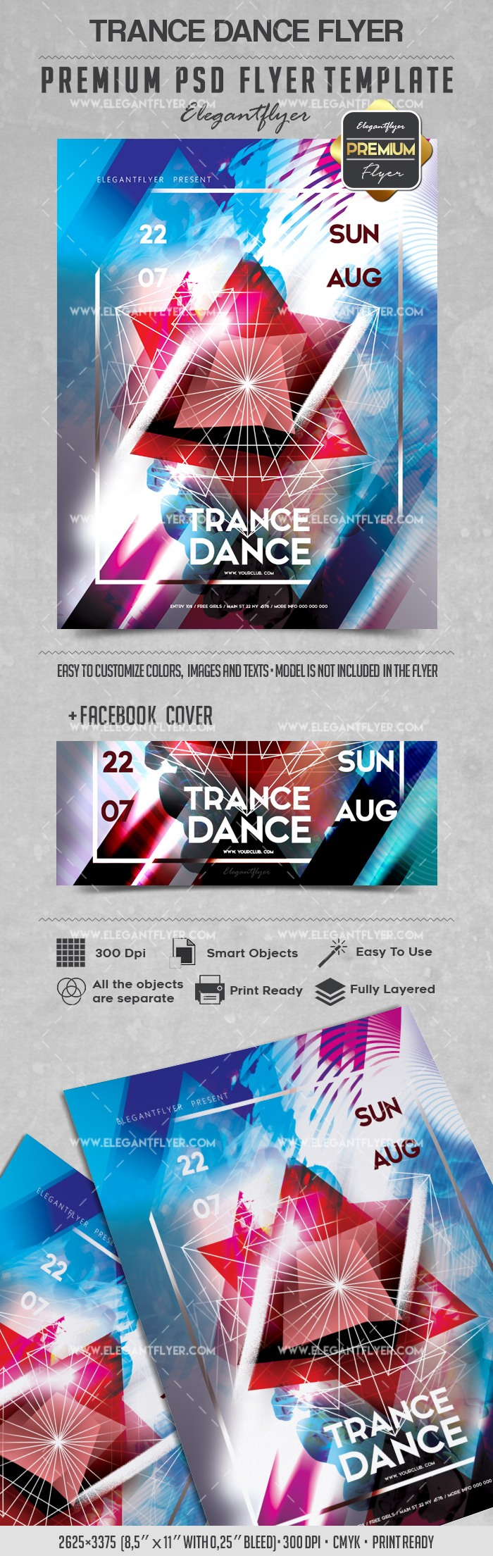 Trance Dance – Flyer PSD Template