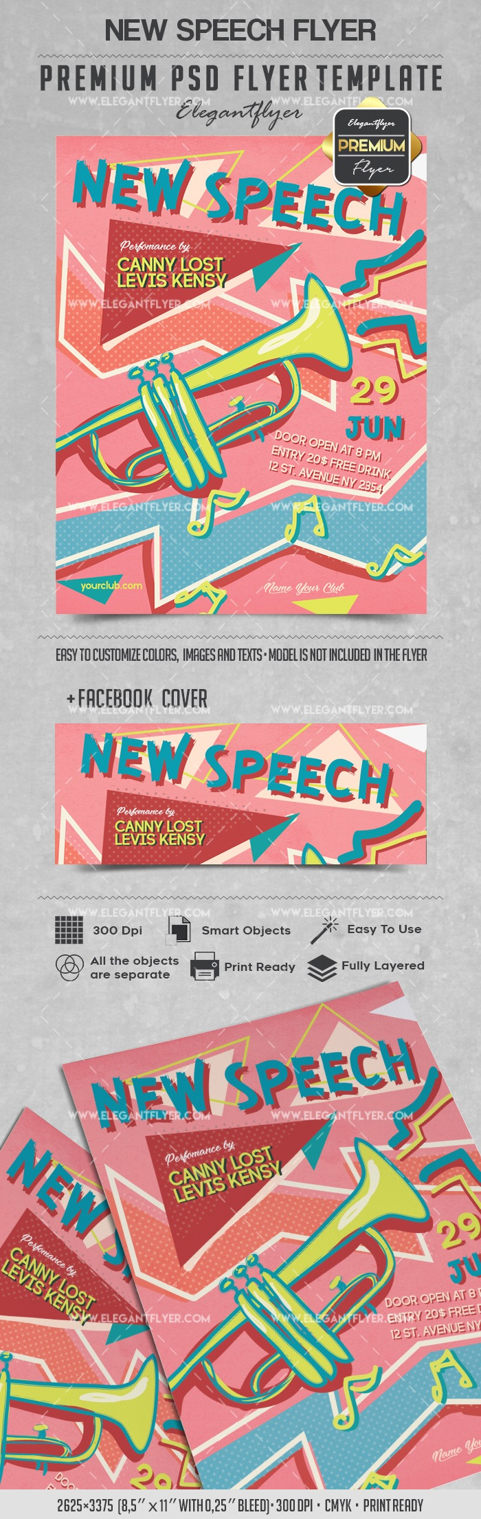 New Speech – Flyer PSD Template