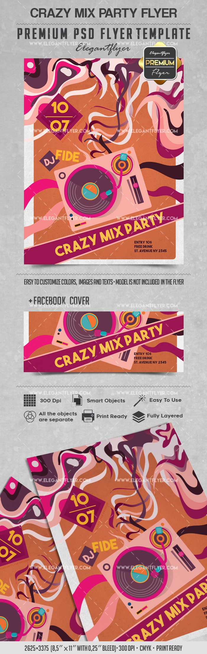 Crazy Mix Party – Flyer PSD Template