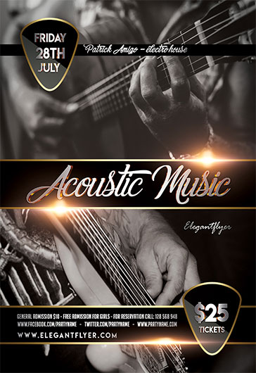 Acoustic Music – Flyer PSD Template