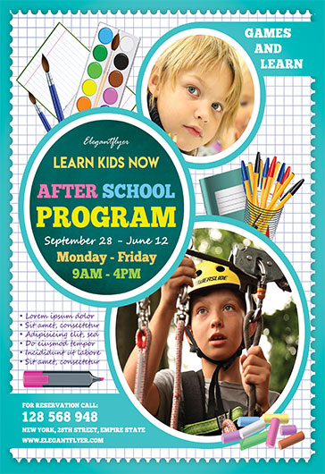 After School Program – Flyer PSD Template