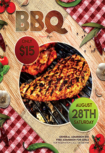 BBQ Party V02 – Flyer PSD Template
