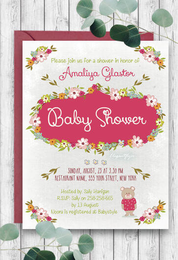 Unicorn Baby Shower Design