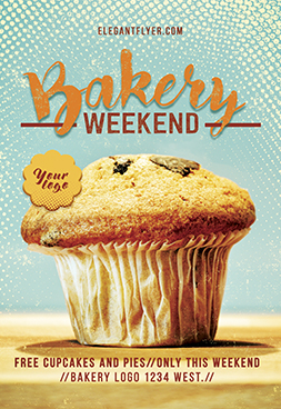 Bakery Weekend – Free Flyer PSD Template