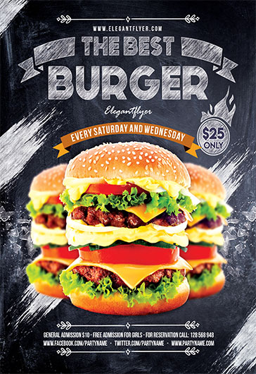 Burger – Flyer PSD Template