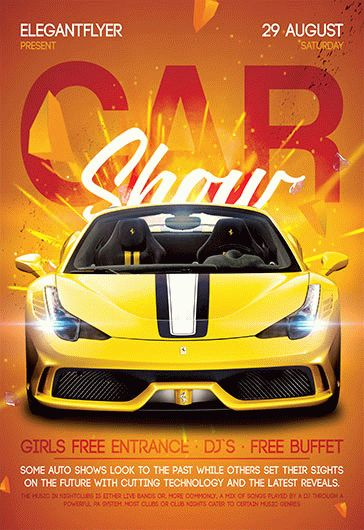 Car Show  Free Flyer Psd Template  Facebook Cover  By Elegantflyer