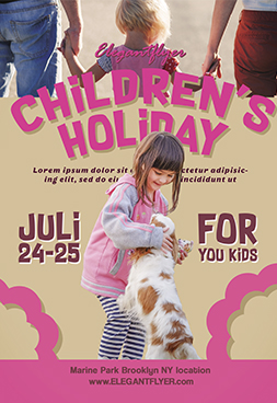 Children's holidays – Free Flyer PSD Template