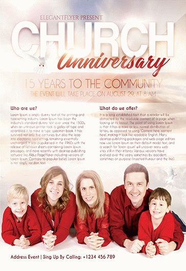 Church Anniversary – Flyer PSD Template