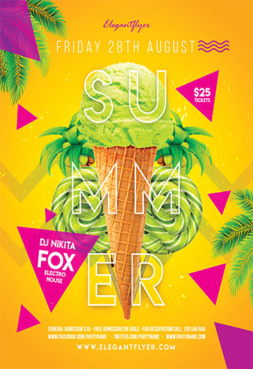 Delicious Summer – Flyer PSD Template