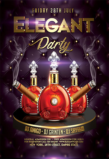 Elegant Night Party – Flyer PSD Template