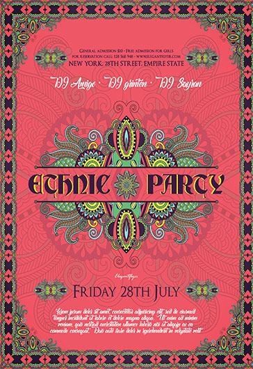 Ethnic Party – Flyer PSD Template