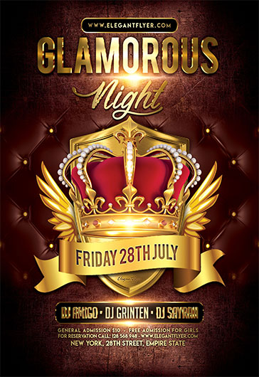 Glamorous Night V02 – Flyer PSD Template