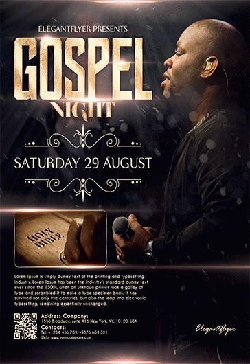 gospel night  u2013 flyer psd template  u2013 by elegantflyer